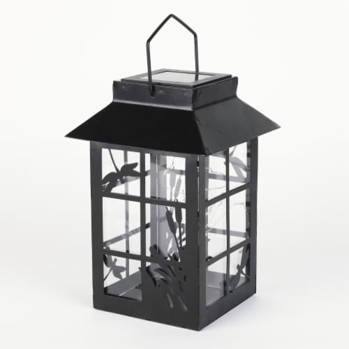 Luxen Home WH157 Starry Night Solar Light Lantern Perspective: front