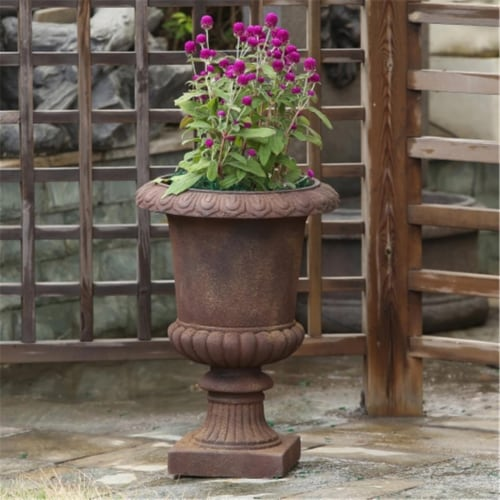 Luxen Home WHPL269 Urn Planter  Classic Bronze Perspective: front
