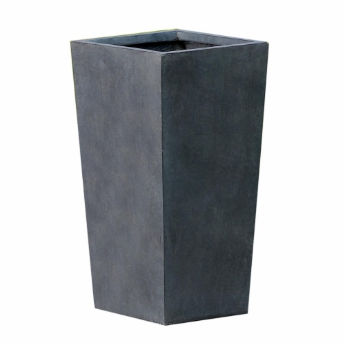 Luxen Home Stone Tall Tapered Planter  Medium Perspective: front