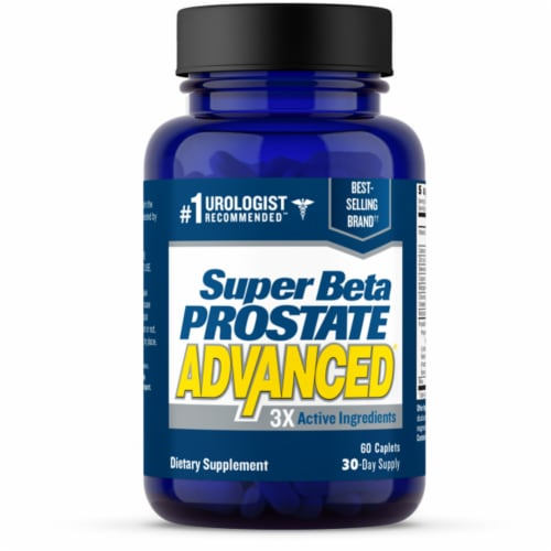 Super Beta Prostate P3 Advanced Dietary Supplement Caplets Perspective: front