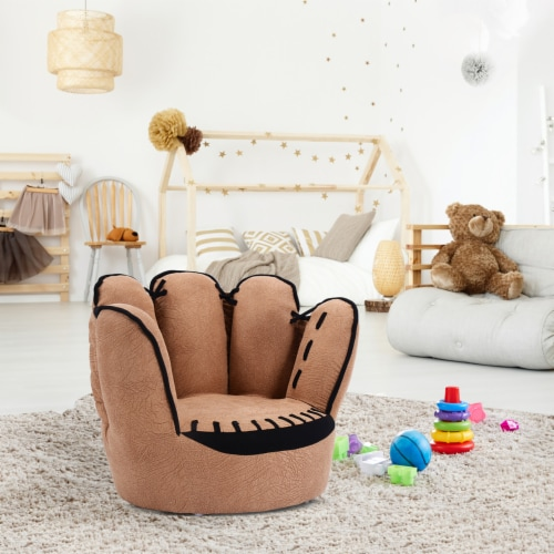 Costway Kids Sofa Five Finger Armrest Chair Couch Children Living Room Toddler Gift Perspective: front