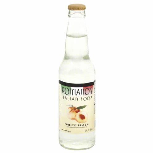 Romano's White Peach Italian Soda Perspective: front