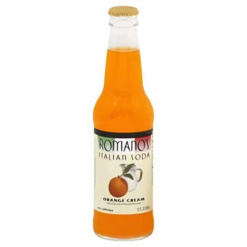 Romano's Orange Cream Italian Soda Perspective: front