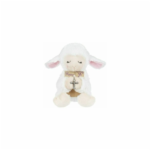 Ganz USA 170402 Plush-Lamb with Rosary Perspective: front