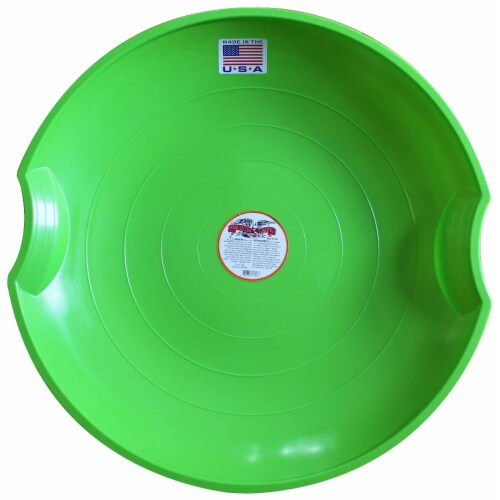 Paricon 626-G Flexible Flyer Flying Saucer Snow Sled, 26 Inch Diameter, Green Perspective: front