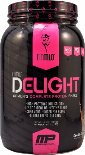 FitMiss  Delight™ Women's Complete Protein Shake   Chocolate Delight Perspective: front