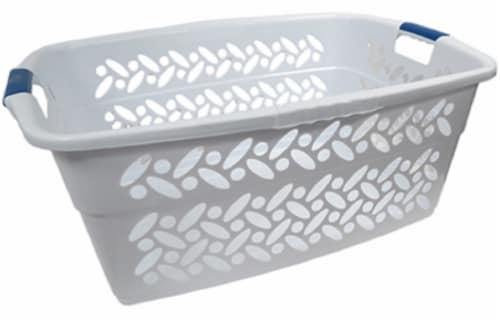VM International Rectangular Laundry Basket - White Perspective: front