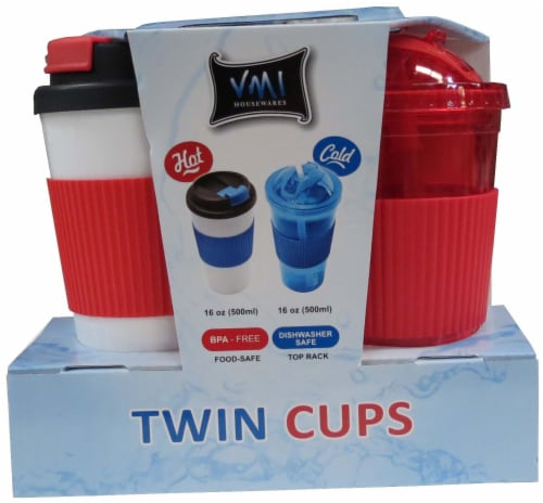 VMI Housewares Hot and Cold Beverage Cup Twin Pack Perspective: front