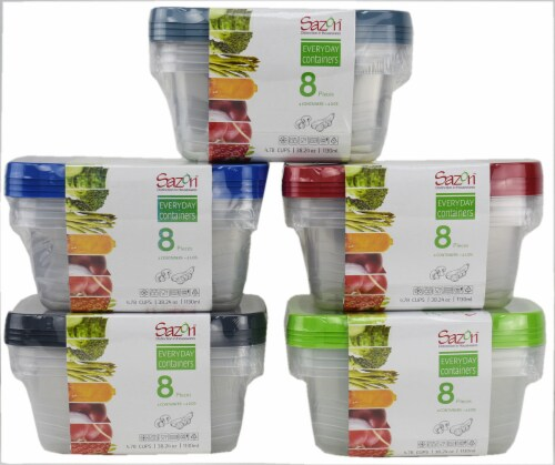 Sazon Everyday Containers Rectangular Food Storage Containers - 8 Piece Perspective: front
