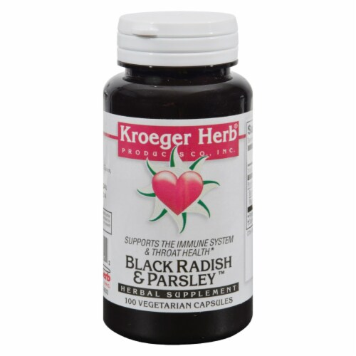 Kroeger Herb Black Radish and Parsley Capsules Perspective: front