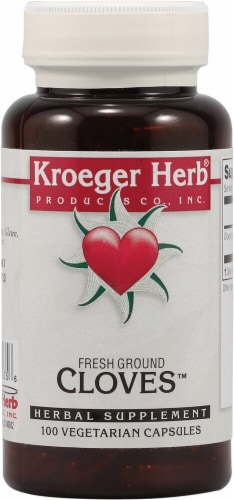 Kroeger Herb Fresh Ground Cloves Capsules Perspective: front