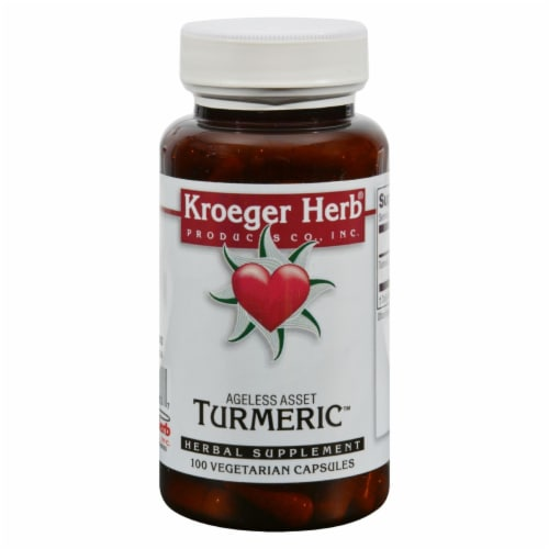 Kroeger Herb Turmeric Capsules Perspective: front