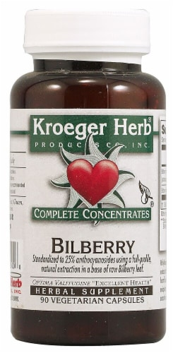 Kroeger Herb Bilberry Capsules Perspective: front