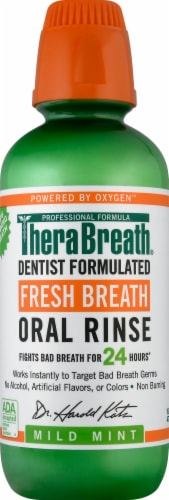 TheraBreath Mild Mint Fresh Breath Oral Rinse Perspective: front