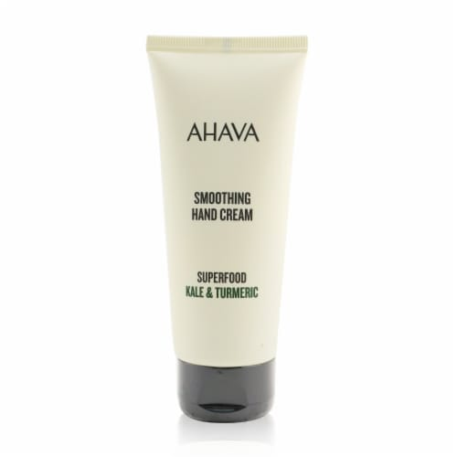 Ahava Superfood Kale & Turmeric Smoothing Hand Cream 100ml/3.4oz Perspective: front