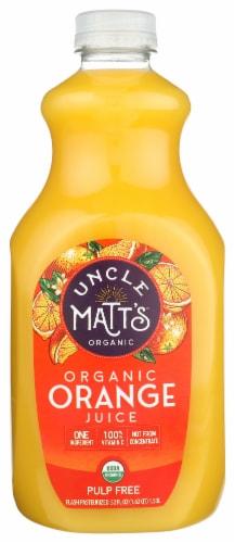 Uncle Matt's Organic Pulp Free Orange Juice Perspective: front