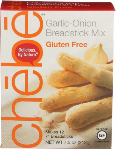 Chebe Gluten-Free Garlic-Onion Breadstick Mix Perspective: front