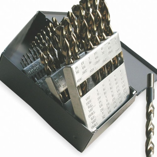 Cle-Line Jobber Drill Set,29 pc,HSS HAWA C18718 Perspective: front