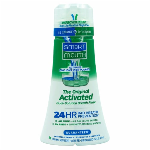 Smart Mouth Original Clean Mint Mouthwash Perspective: front