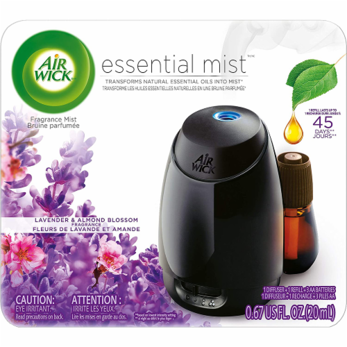 Air Wick Essential Mist Diffuser Refill Lavender and Almond Blossom Perspective: front