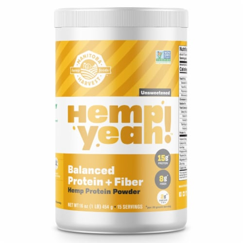 Manitoba Harvest Hemp Pro50 Powder Supplement Perspective: front