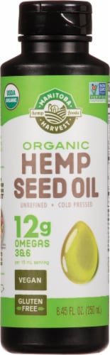 Manitoba Harvest Organic Hemp Seed Oil Perspective: front