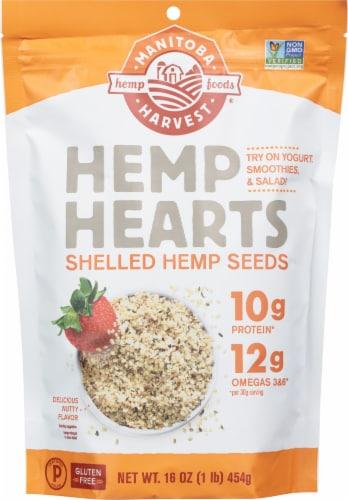 Manitoba Harvest Hemp Hearts Shelled Hemp Seeds Perspective: front