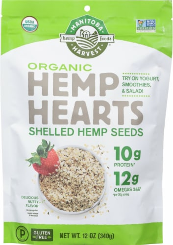 Manitoba Harvest Raw Shelled Hemp Seeds Perspective: front