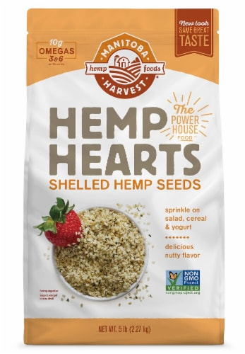 Manitoba Harvest  Hemp Hearts Raw Shelled Hemp Seeds Perspective: front
