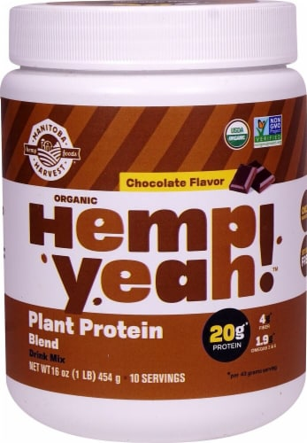 Manitoba Harvest  Hemp Yeah!™ Plant Protein Blend    Chocolate Perspective: front