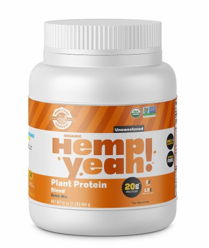 Manitoba Harvest  Hemp Yeah!™ Plant Protein Blend   Unsweetened Perspective: front