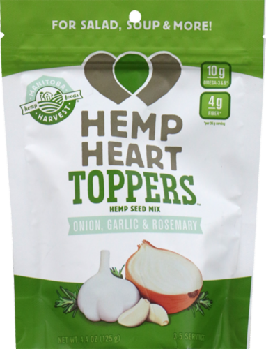 Manitoba Harvest Hemp Heart Toppers Hemp Seed Mix with Onion Garlic & Rosemary Perspective: front