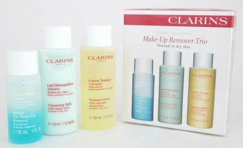 Clarins Make-Up Remover Trio Normal to Dry Skin 2 x 1.7 oz+ 1.0 oz Perspective: front