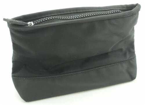 """BIOTHERM HOMME Black 9""""x 6""""x 3"""" Toiletry Travel Cosmetic Bag. New. Perspective: front"""
