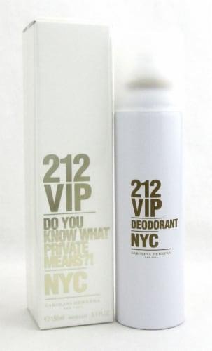 212 VIP by Carolina Herrera 5.1 oz /150 ml Deodorant Spray for Women. New In Box Perspective: front