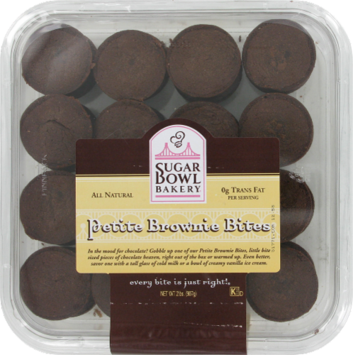 Sugar Bowl bakery Petite Brownie Bites 32 Count Perspective: front