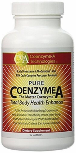 Coenzyme-A Technologies  Pure CoenzymeA™ Total Body Health Enhancer Dietary Supplement Perspective: front