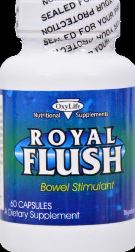 Oxylife Royal Flush Bowel Stimulant Capsules Perspective: front