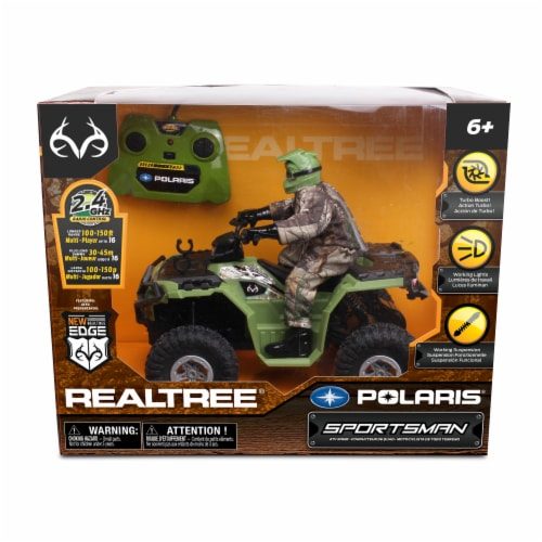 Realtree Polaris Sportsman Remote Controlled ATV Rider Perspective: front