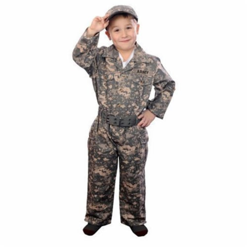 Aeromax CAMO-46 Jr. Camouflage Suit with Cap and Belt- Size 4-6 Perspective: front
