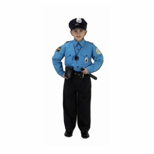 Costumes For All Occasions Ar29Md Police Suit Medium 8 To 10 Perspective: front