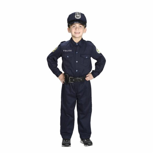 Aeromax PO-23 2 by 3 Jr. Police Officer Suit with Cap & Belt Perspective: front