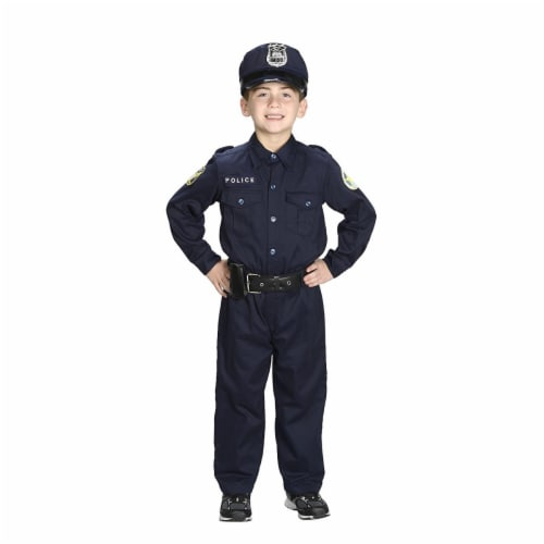 Aeromax PO-810 Junior Police Officer Suit with Cap & Belt, Size 8-10 Perspective: front