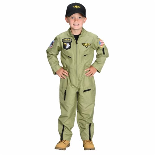 Morris Costume AR38SM Fighter Pilot Child Costume, Small 4-6 Perspective: front