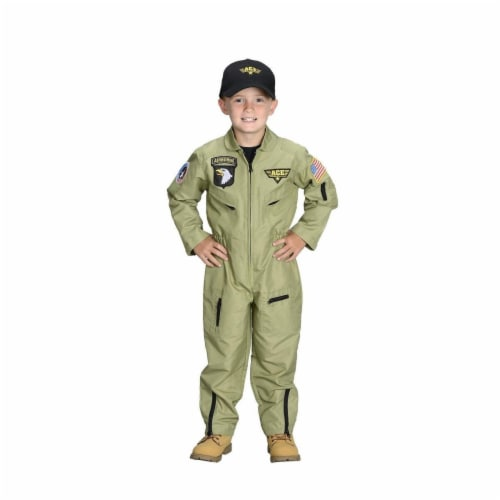 Aeromax FP-68 Jr. Fighter Pilot Suit with Embroidered Cap, Size 6-8 Perspective: front
