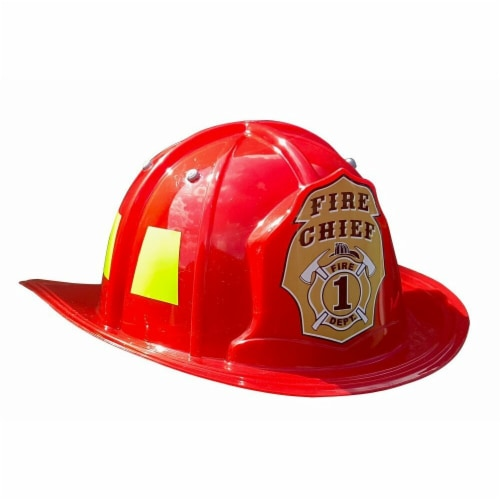 Aeromax FR-HELMET Junior Fire Fighter Helmet, Red - Youth Size Perspective: front
