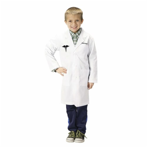 Aeromax LDR-1214 Junior Doctor Lab Coat, 0.75 - Size 12-14 Perspective: front