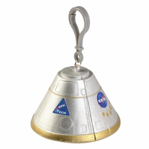 Aeromax FOM-C Orion Space Capsule Foam Squeeze Toy with Backpack Clip Perspective: front