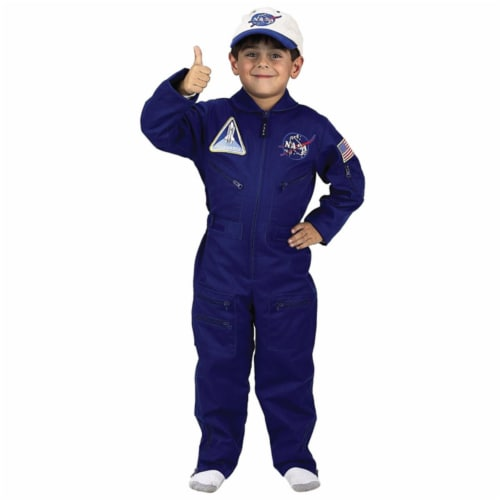 Costumes For All Occasions AR59SM Flight Suit With Cap Size 4-6 Perspective: front