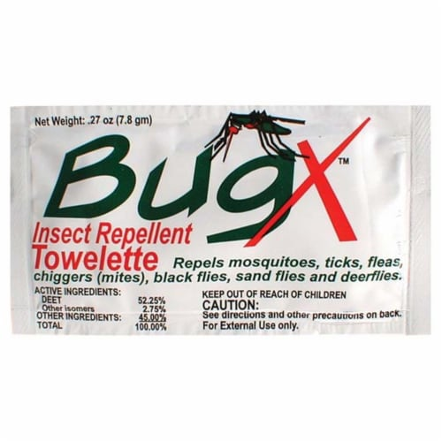 Coretex Products 371772 Bugx Insect Repellent Towelette Perspective: front